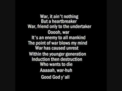 War  Edwin Starr with lyrics