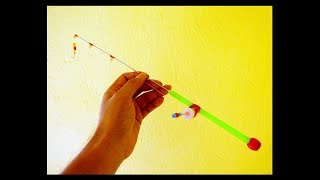 How To Make a Mini Fishing Rod and Reel at Home,Heavy Duty | DIY Fishing | Fishing Hacks,