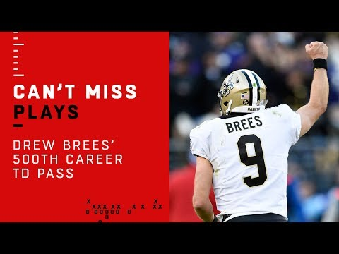Drew Brees Gets His 500th Career TD Pass!