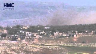 غارة جوية من الطيران الحربي على قرية شولين جبل شحشبو 1 5 2015