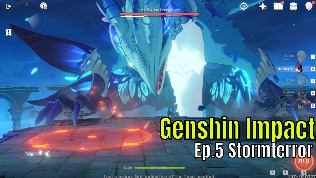 Genshin Impact Episode 5 Boss Fight Taking On Storm Terror Fun Emotional Ride Youtube