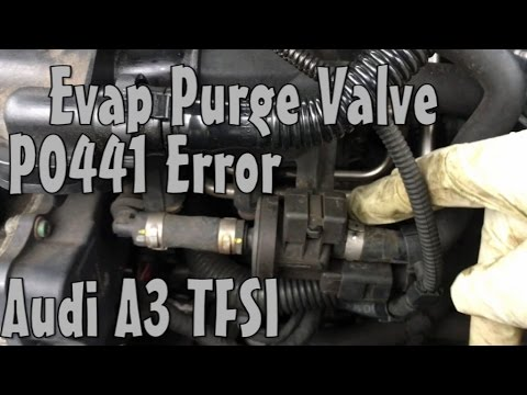 Audi A3 Evap Fuel Purge Valve P0441 Error Code Replace - YouTube