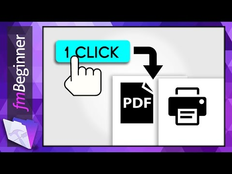 FileMaker Beginner Tutorial - PDF Script
