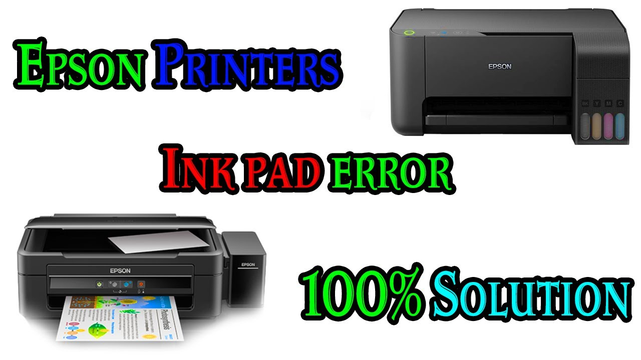 A Printers Ink Tank is Near to end of it`s Service Life, Please contact  Epson Support How to Solve