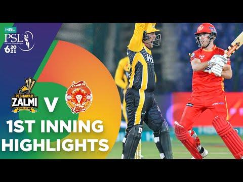1st Inning Highlights | Islamabad United vs Peshawar Zalmi | Match 10 | HBL PSL 6 | MG2T