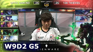 OPT vs 100 | S9 LCS Spring 2019 Week 9 Day 2 | OpTic Gaming vs 100 Thieves W9D2