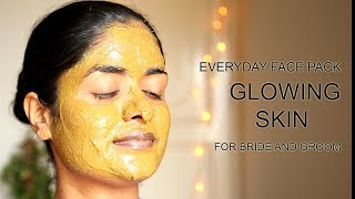 Everyday Glowing Skin Face Pack For Bride and Groom || #100dayswithsowbii DAY77