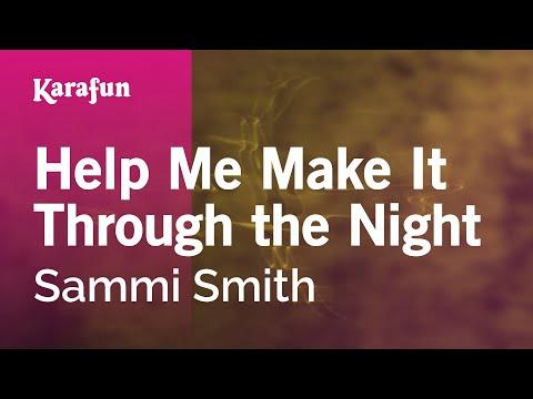 Karaoke Help Me Make It Through the Night - Sammi Smith *
