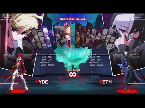 UNDER NIGHT IN-BIRTH Exe:Late All Characters [PS3]