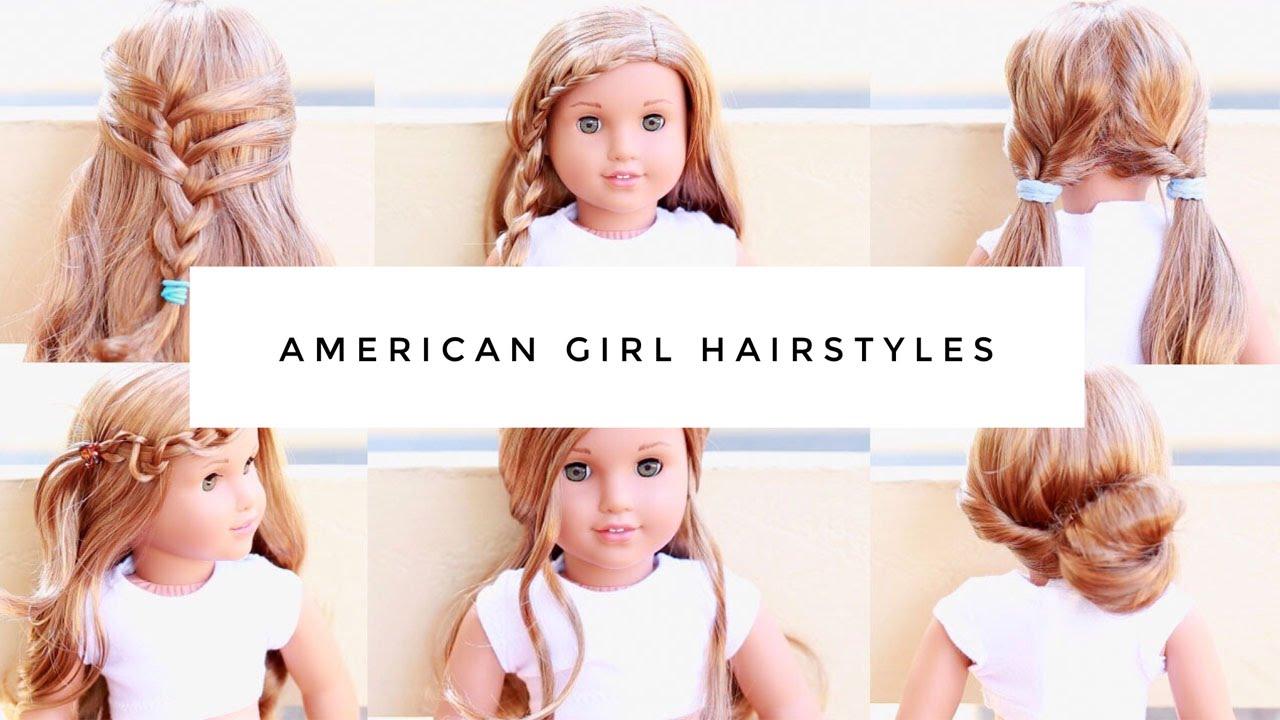 simple, fun, easy american girl doll hairstyles