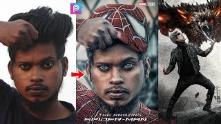PicsArt Spiderman Costume Photo Editing Tutorial Step By Step In Hindi In Picsart