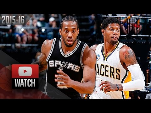 Paul George vs Kawhi Leonard Duel Highlights (2016.03.07) Pacers vs Spurs - TOO SICK!