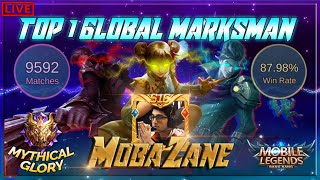 🔴 Finally Rank 100 GLOBAL | Top GLOBAL Marksman | Mobile Legends 🔴