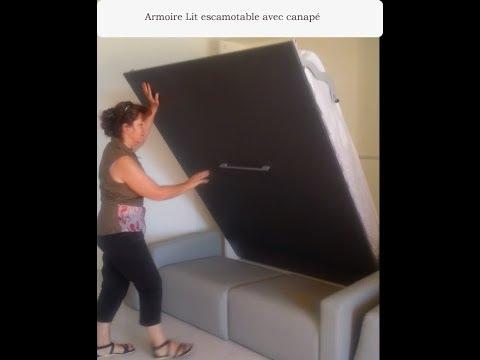armoire lit escamotable canap secret de chambre - Armoire Lit Canape