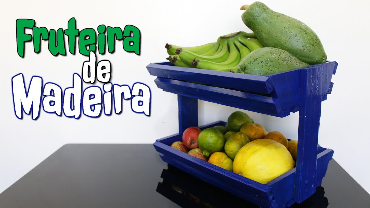 Como Fazer uma Fruteira de Madeira #B3A418 1920x1080