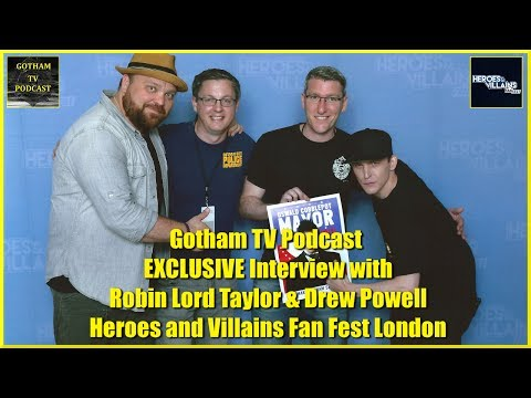 EXCLUSIVE  with Robin Lord Taylor & Drew Powell of Gotham at Heroes and Villains  Fest