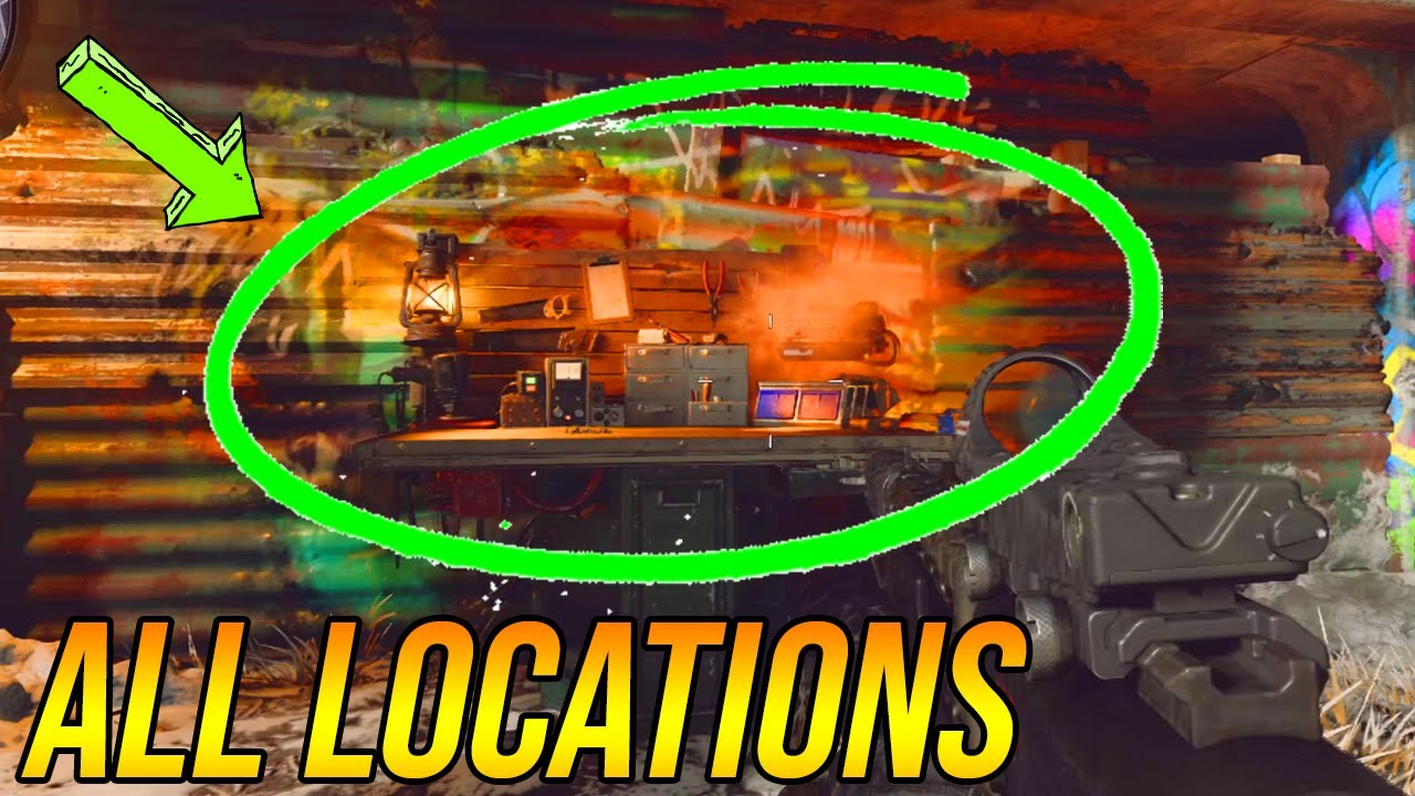 All Salvage Crafting Table Locations On Die Maschine Cold War Zombies Youtube