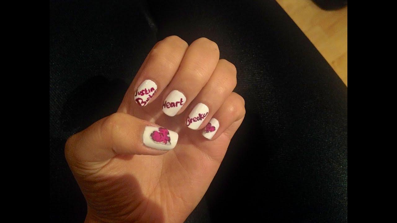 Justin Bieber- HeartBreaker Nails - YouTube