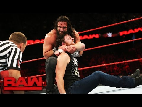 Elias Samson's debut against Dean Ambrose gets disrupted by an A-List assault: Raw, May 22, 2017