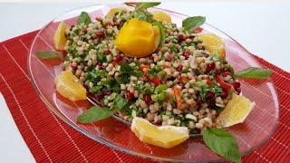 Çok Kolay ve Çok Doyurucu -Buğday Salatası Tarifi-Buğday Salatasını Böyle Deneyin-Gurbetinmutfagi