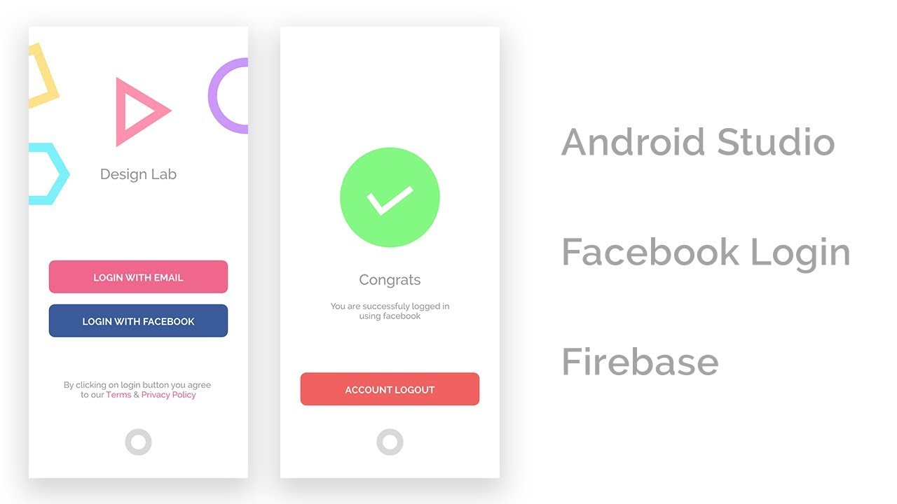 Android Facebook Login with Firebase in - Android Studio