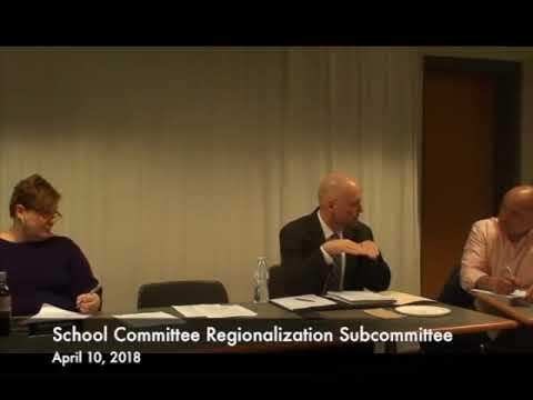 School Committee Regionalization Subcommittee 04.10.18