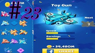 Merge Plane - Click & Idle Tycoon #lv23 #ToY_Gun (No hack easy way) iOS & Android Games, GamePlay_HD