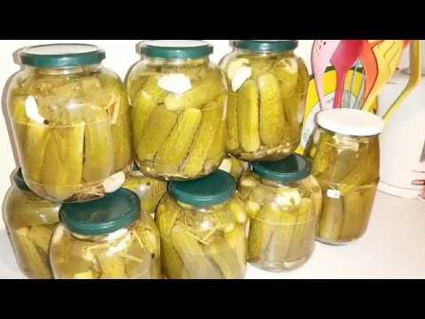 Обалденные огурчики. Рецепт хрустящих маринованных огурцов на зиму.Marinade Cucumbers.