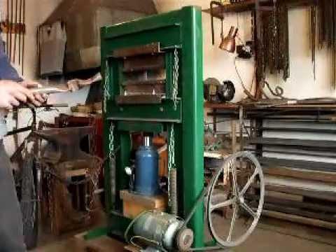 Homemade Motorised Hydraulic Press Avi Youtube