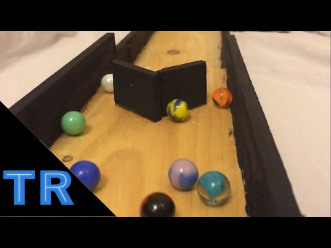 Team Marble Race Tournament on Wooden Race Track - Toy Racing