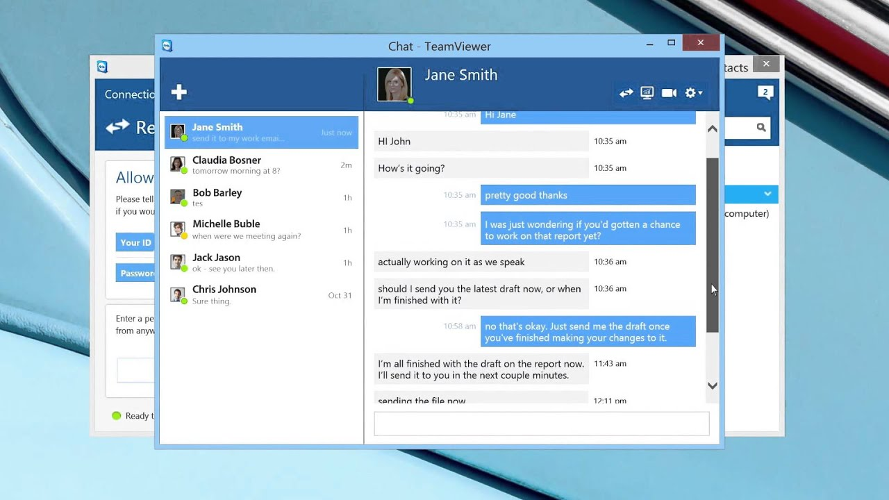 TeamViewer 10 - New Chat Features