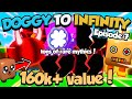 ALPHAGG Doggy To Infinity 😳DOUBLED MY VALUE!!😳 (day 7) - Bubble Gum Simulator (Roblox)