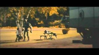 Real Steel Dance Trailer - dancing Robot Atom  with  Max (Dakota Goyo) & Hugh Jackman