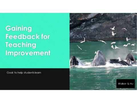 Gaining Feedback for Teaching Improvement (Katie Walker)
