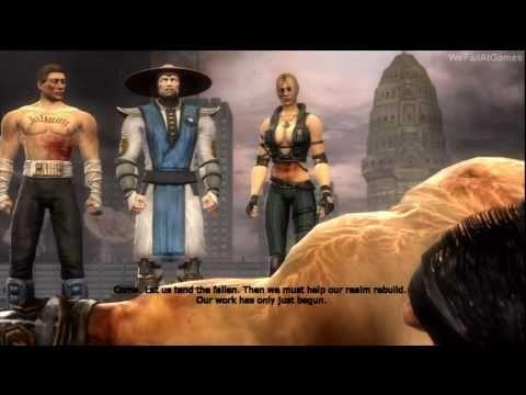Mortal Kombat 9 (2011) - Story Mode Ending [PS3/360][HD]