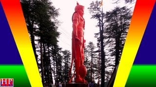 LORD HANUMAN IN SHIMLA SNOWFALL-TALLEST(108 FT HIGH) STATUE IN THE WORLD-JAKHU HILLS SHIMLA