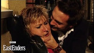 Deano beats up Shirley - EastEnders - BBC