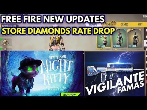 Free fire new updates || Store Diamonds price drop || New pet skin || MG MORE