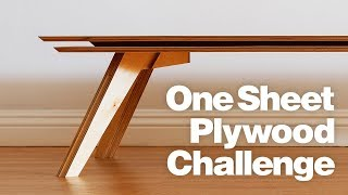 DIY Coffee Table Using One Sheet of Plywood | Woodworking