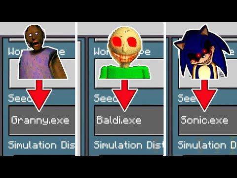 Do Not Choose The Wrong Minecraft World! (Sonic.exe, Baldi.exe, Granny.exe)