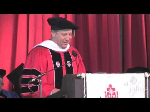 Bruce Beck - St John's University Commencement Address 2009 (Part 1 of 2)