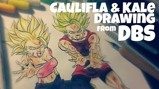 Drawing Caulifla & Kale | From Dragon Ball Super