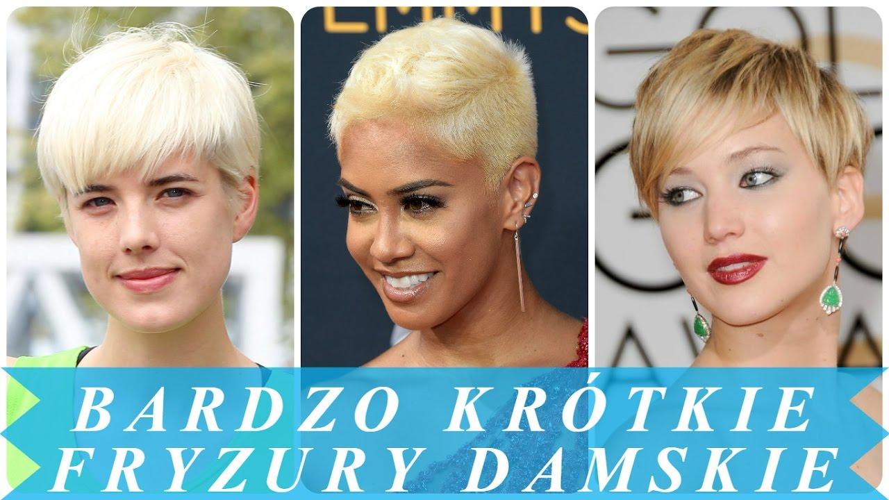 Najlepsze Blond Bardzo Krótkie Fryzury Damskie