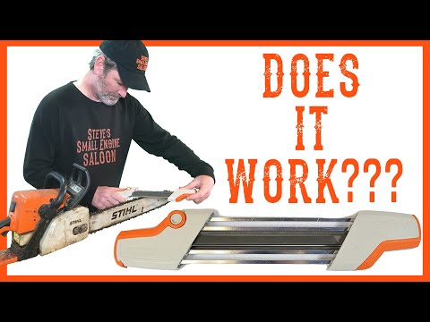 How To Use A Stihl 2 In 1 Chainsaw Chain Sharpener - Video