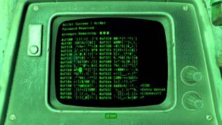 Fallout 4 - Call to Arms Password Start Auxillery Generators, Facility Terminal Gameplay Sequence