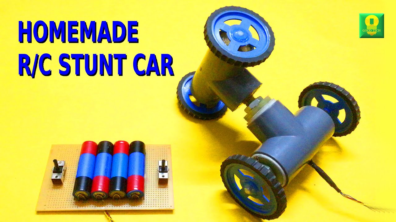 How To Make Remote Controlled Stunt Car At Home   YouTube