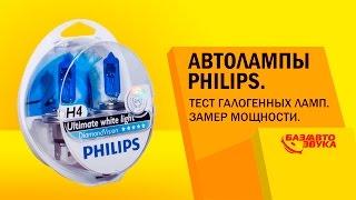 Автолампы Philips. Тест галогенных ламп. Замер яркости. Тест от avtozvuk.ua