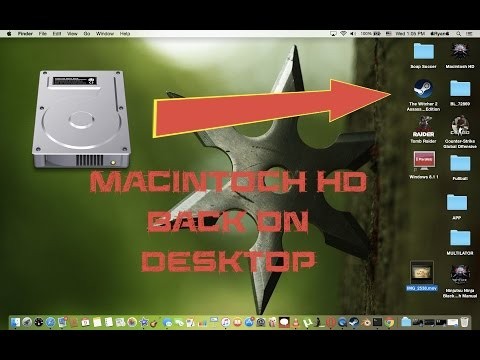How to put Macintosh HD back on desktop on OS X Yo
