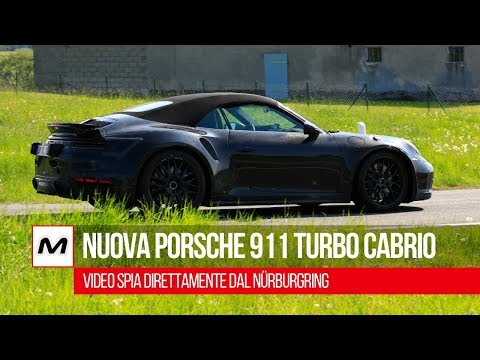 Porsche 911 Turbo Cabriolet 2020: video spia dal Nürburgring