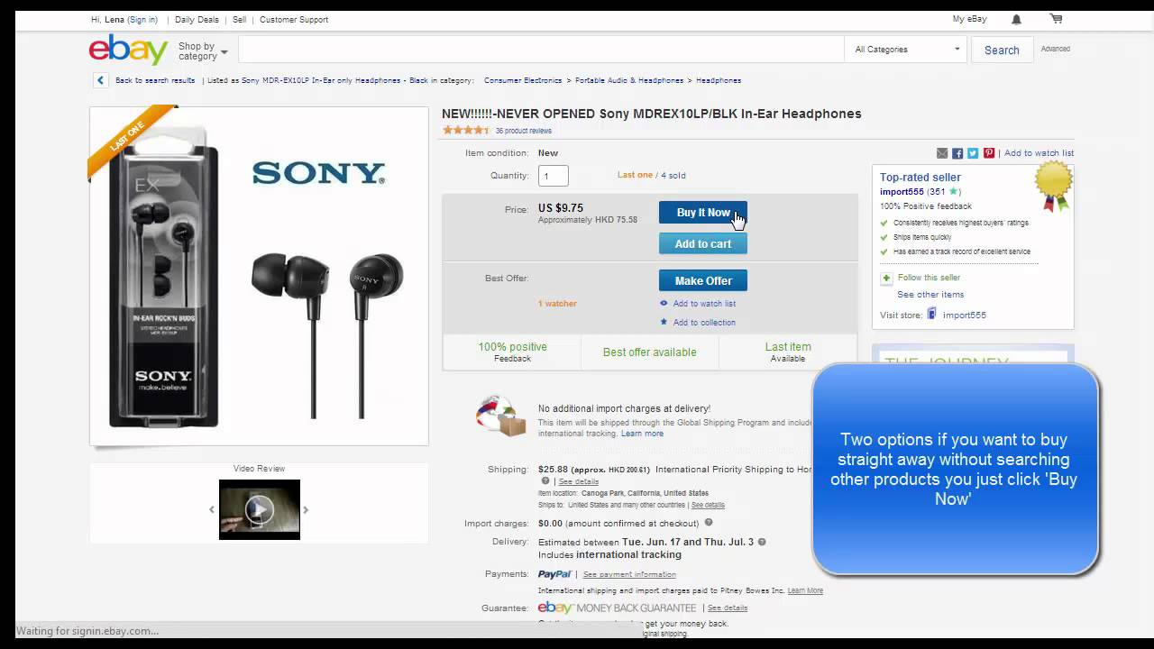 how to cancel ebay buy